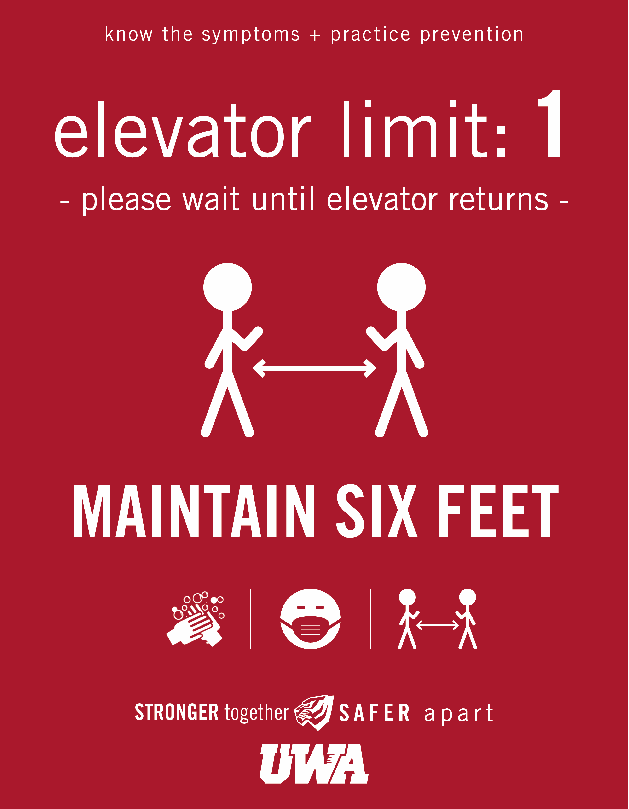 UWA Campus COVID Safety Elevator 1
