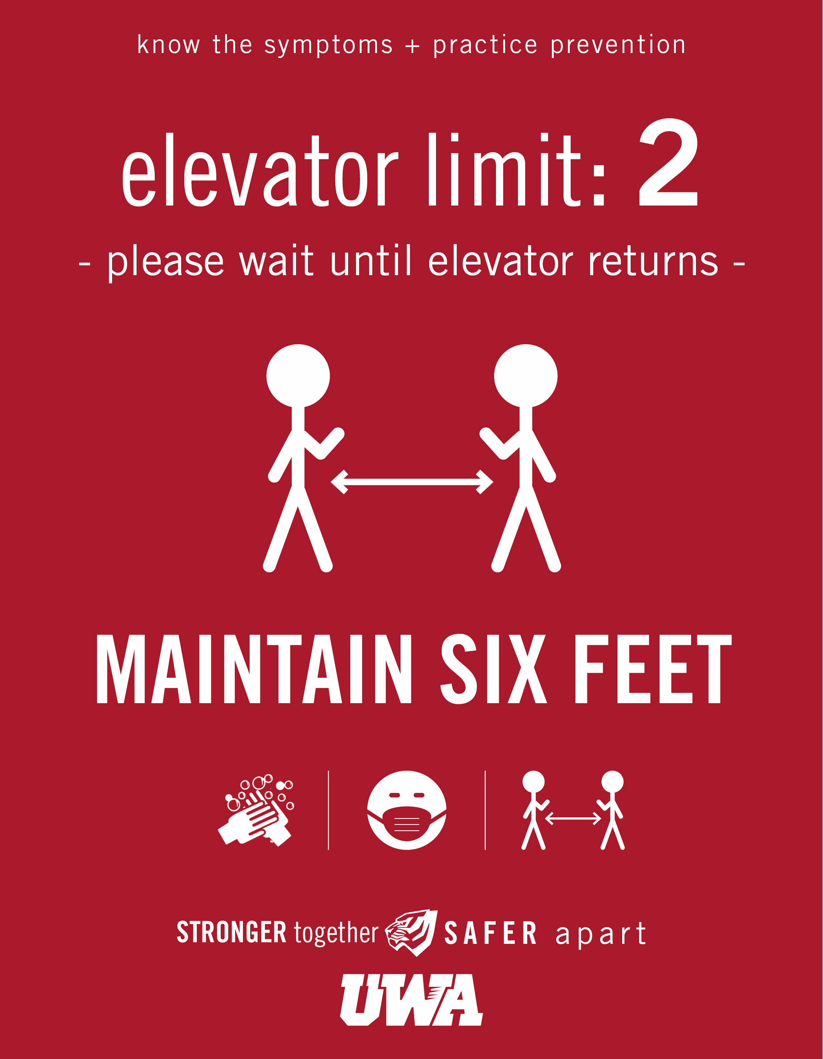 UWA Campus COVID Safety Elevator 2