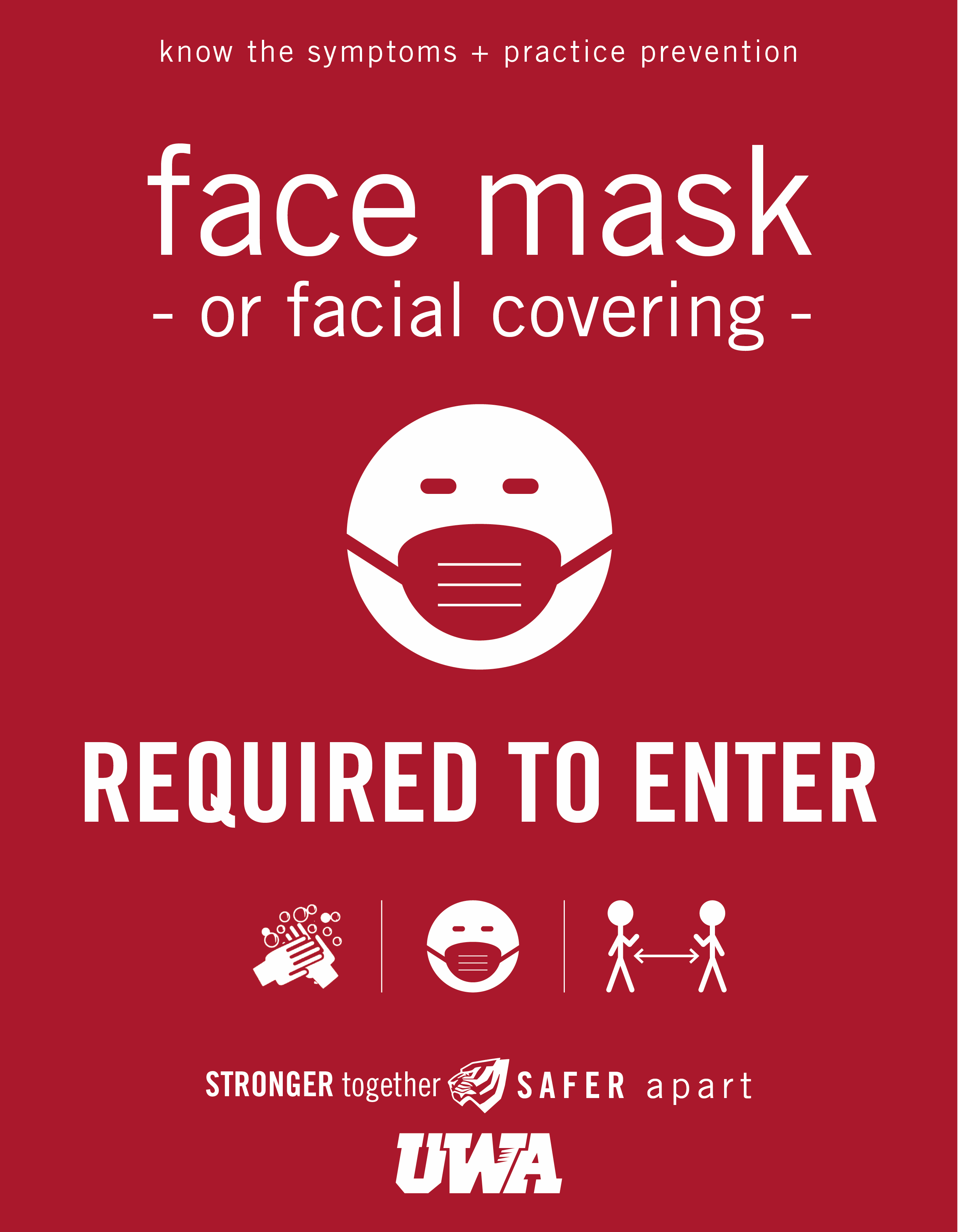 UWA Campus COVID Safety Face Mask