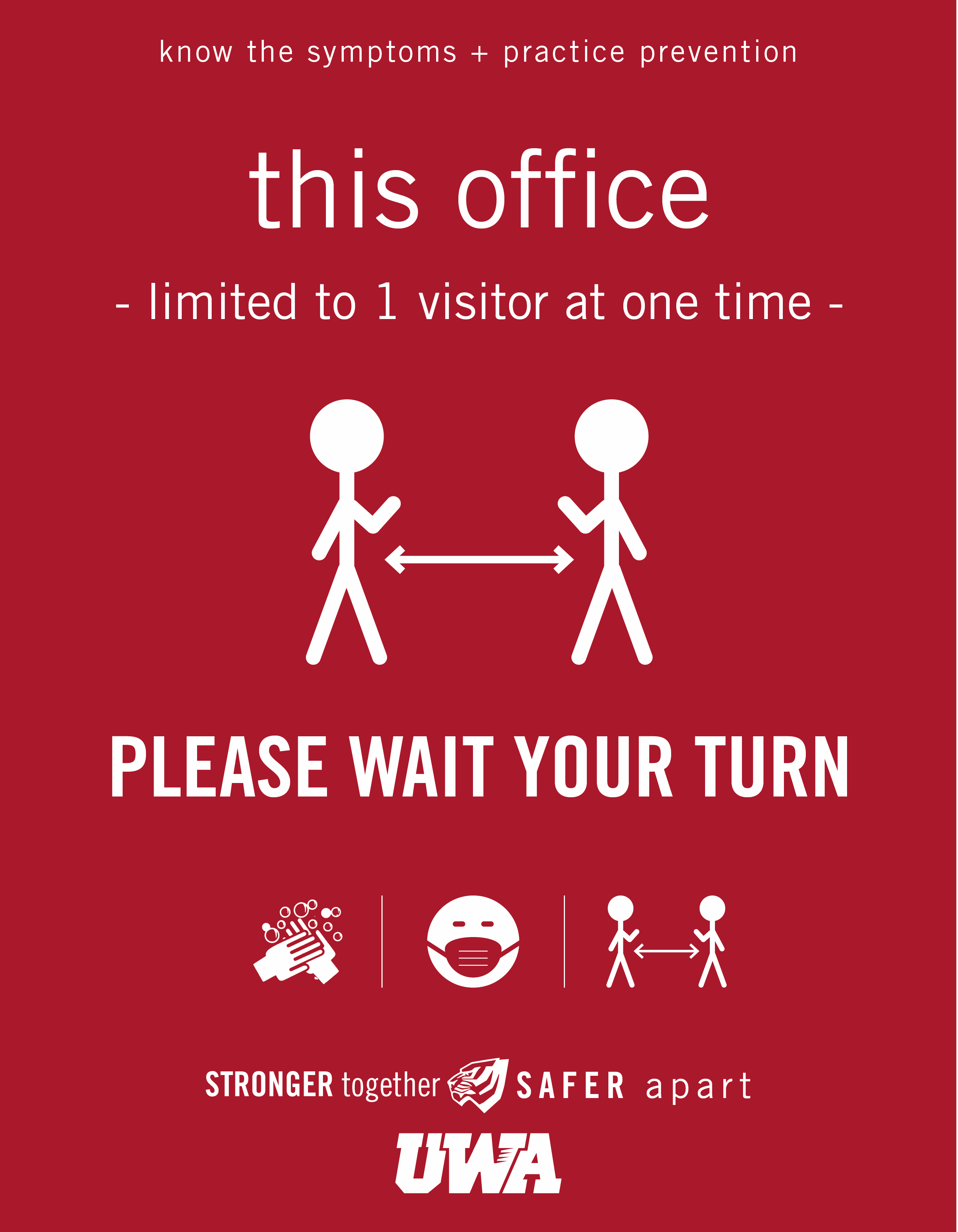 UWA Campus COVID Safety Office Limit