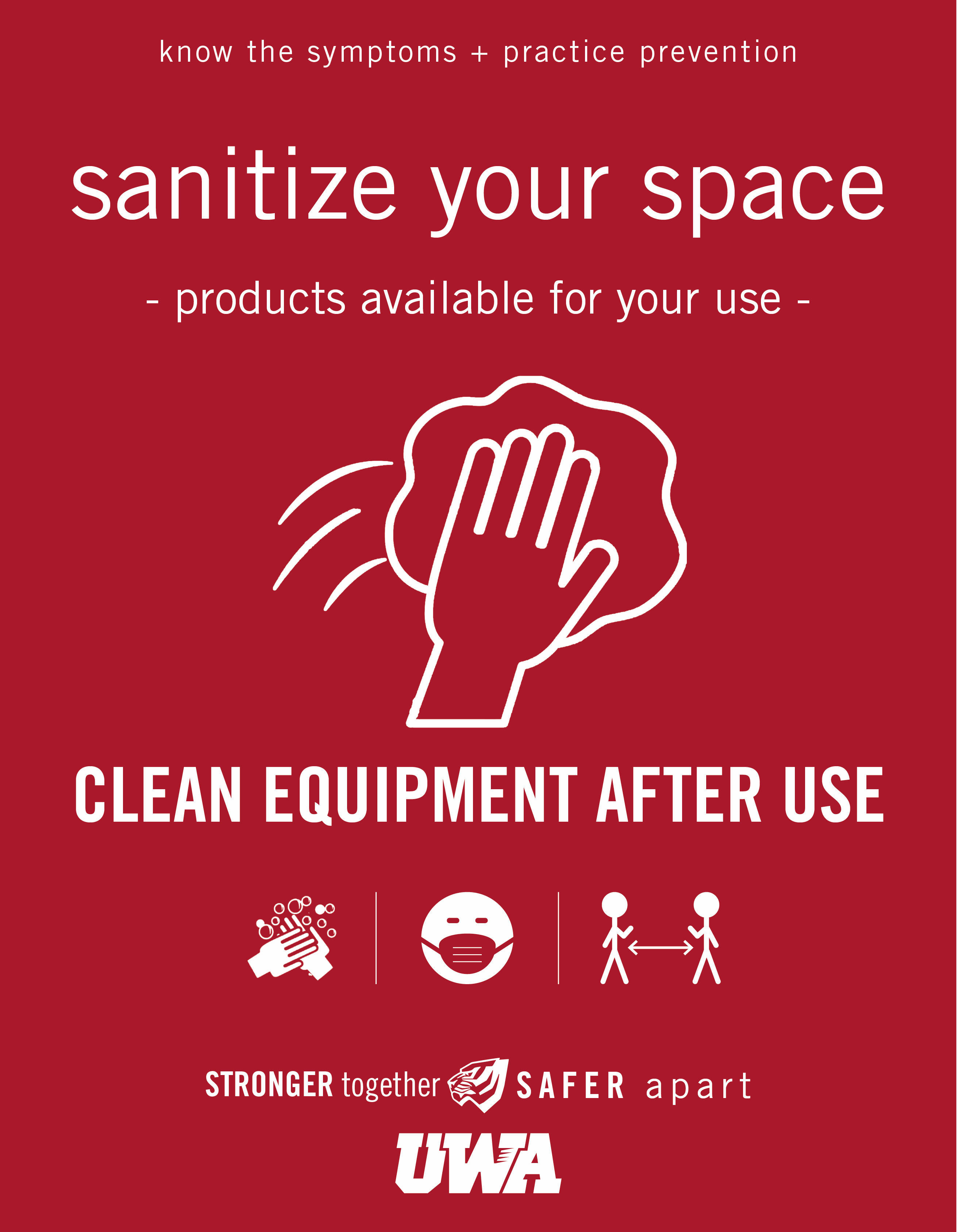 UWA Campus COVID Safety Sanitize