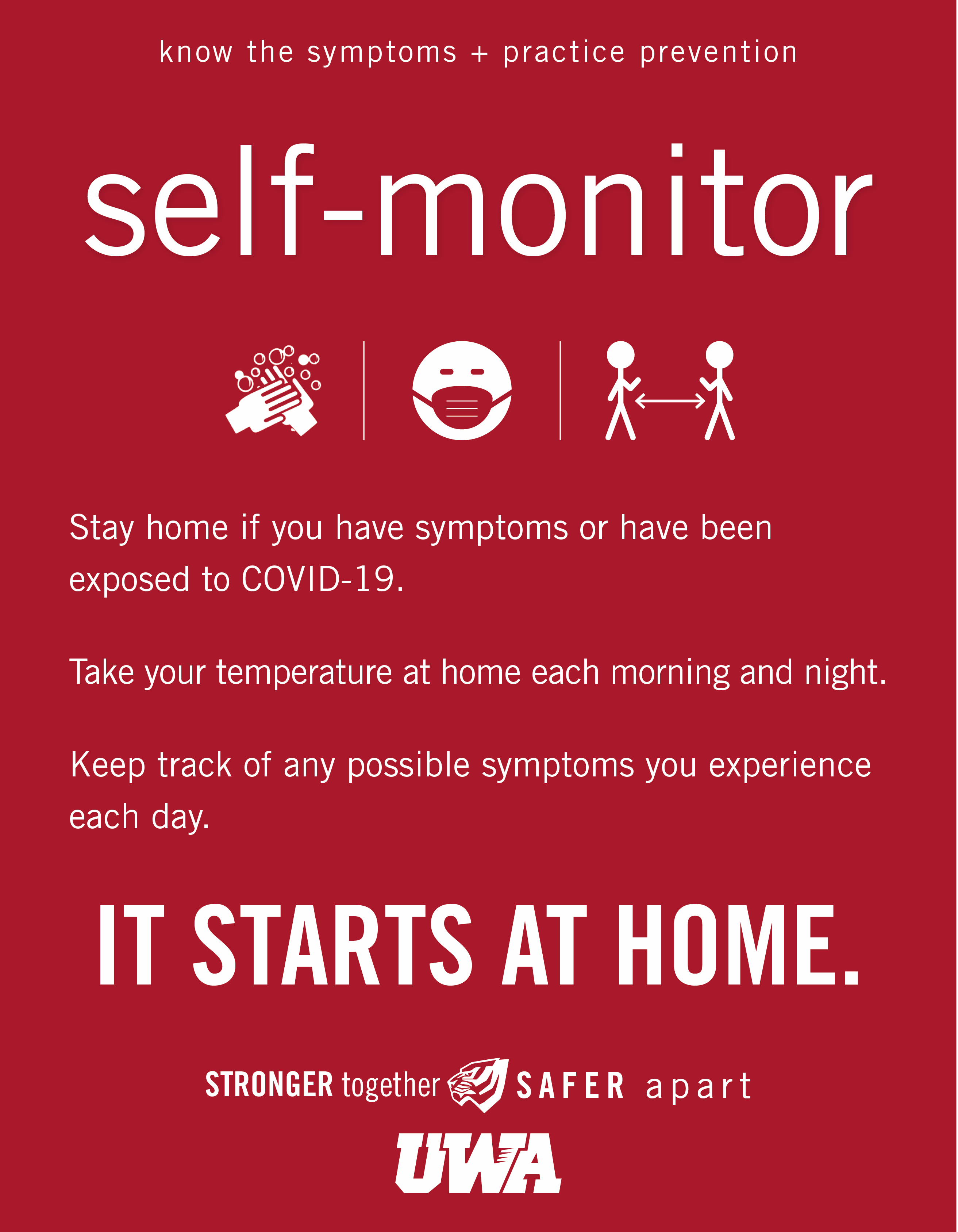 UWA Campus COVID Safety Self Monitor