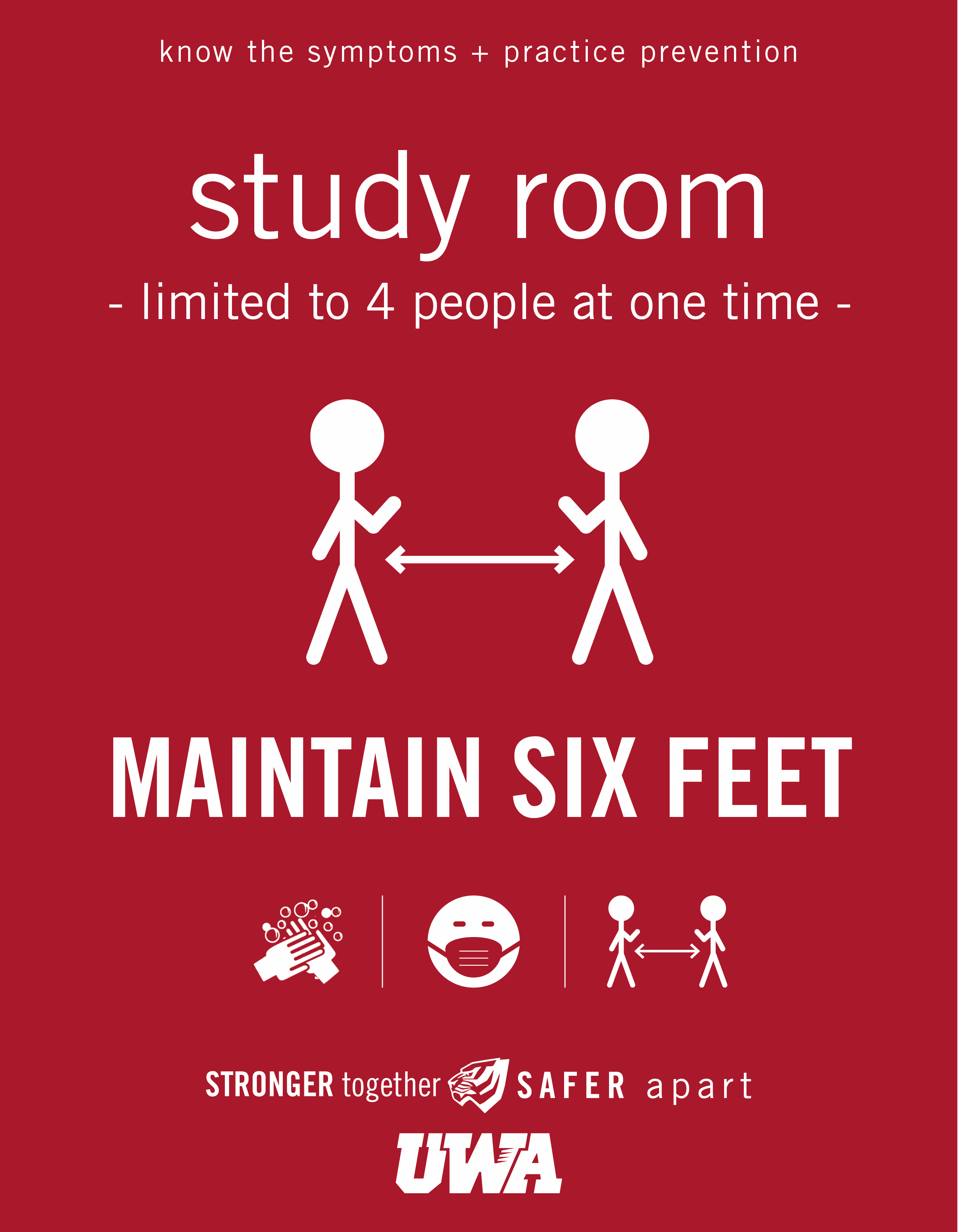 UWA Campus COVID Safety Study Room 4