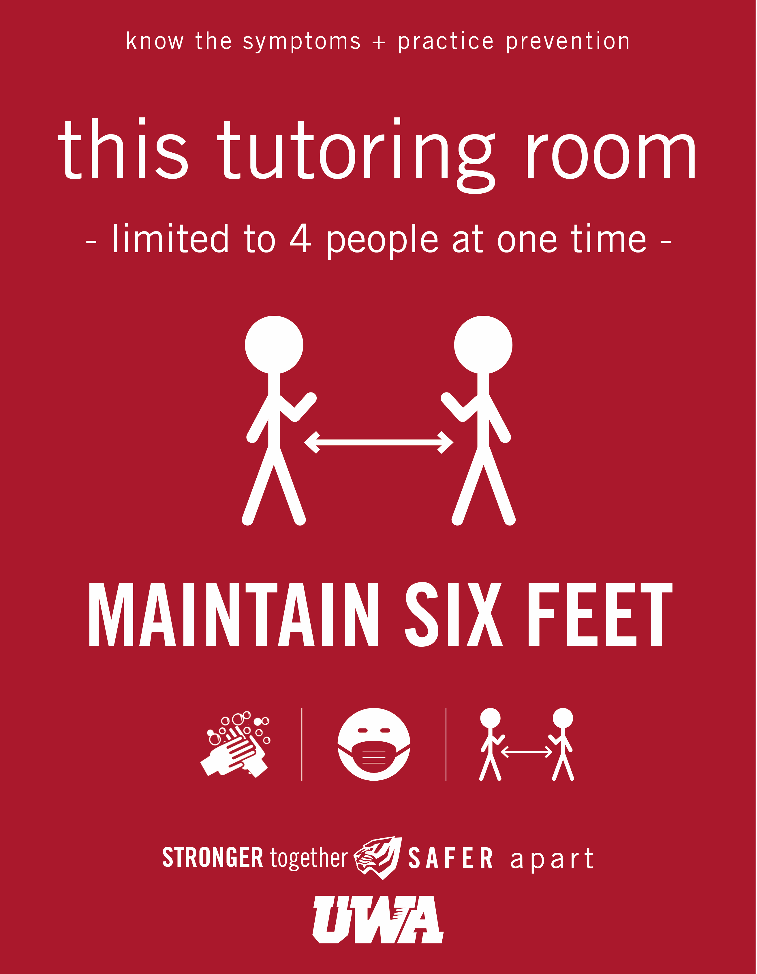 UWA Campus COVID Safety Tutoring Room Limit