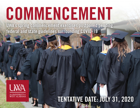 UWA Spring 2020 Commencement Postponed