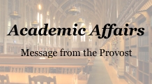Message from the Provost