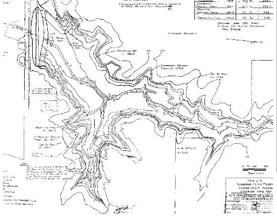 Lake LU Topographical Map