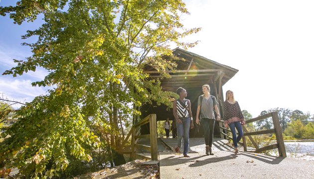 UWA students at Covered Bridge 630360