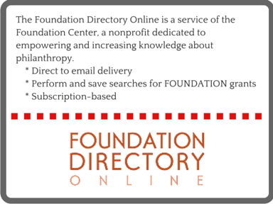 Funding - Foundation Directory Online 2